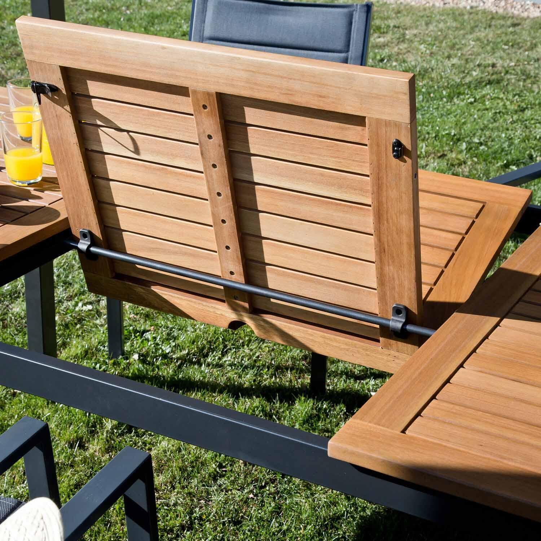 Tavolo da giardino allungabile rettangolare Oris NATERIAL con piano in legno L 180/240 x P 98.9 cm - 13