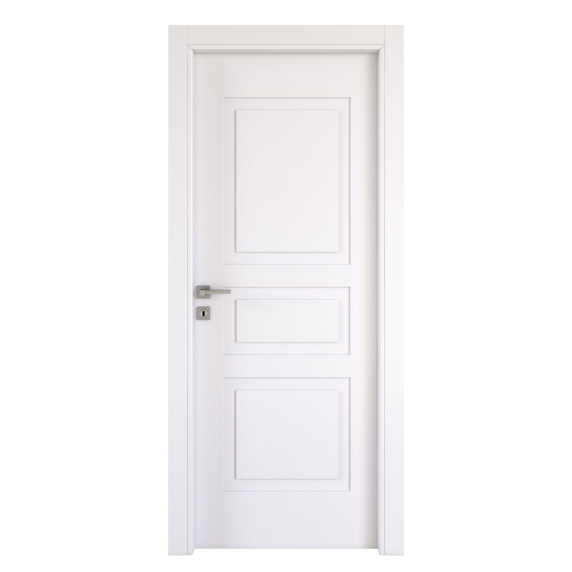Porta a battente Alioth bianco L 80 x H 210 cm destra - 6