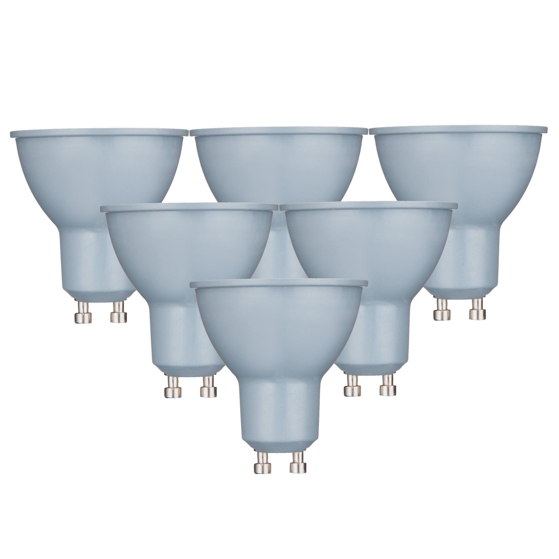 Set di 6 lampadine LED, GU10, Faretto, Smerigliato, Luce naturale, 6W=450LM (equiv 50 W), 100° , LEXMAN - 6