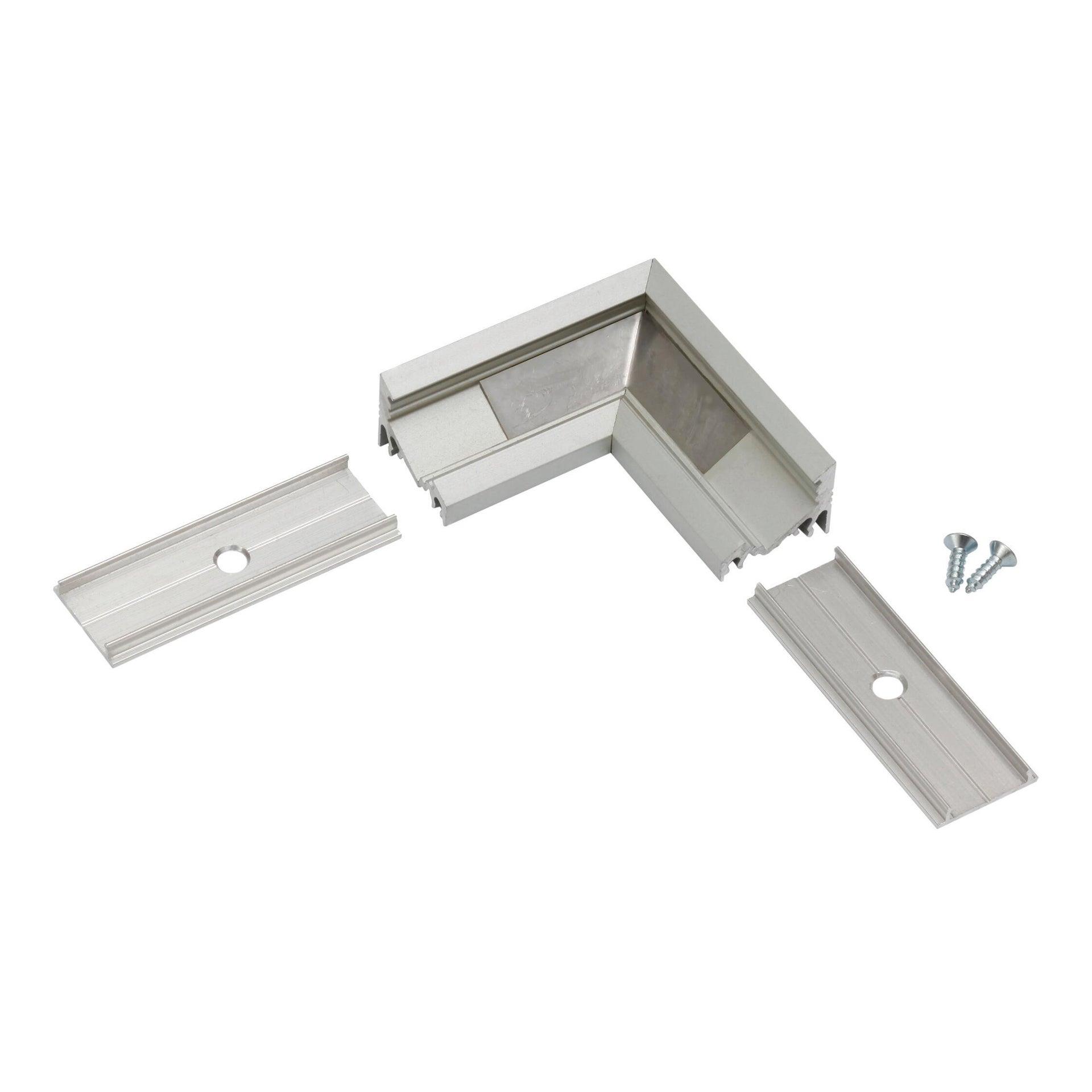 Connettore per profilo strisce led, grigio / argento, 2 m - 2