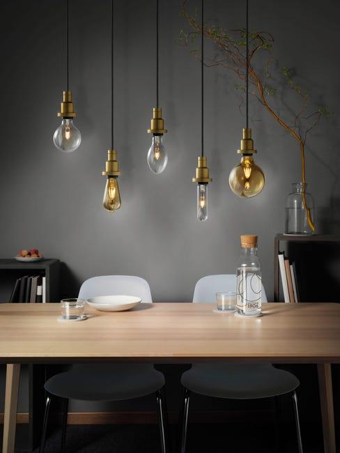 Set di 8 lampadine LED, E27, Goccia, Ambra, Luce calda, 7W=420LM (equiv 36 W), 320° , OSRAM - 1