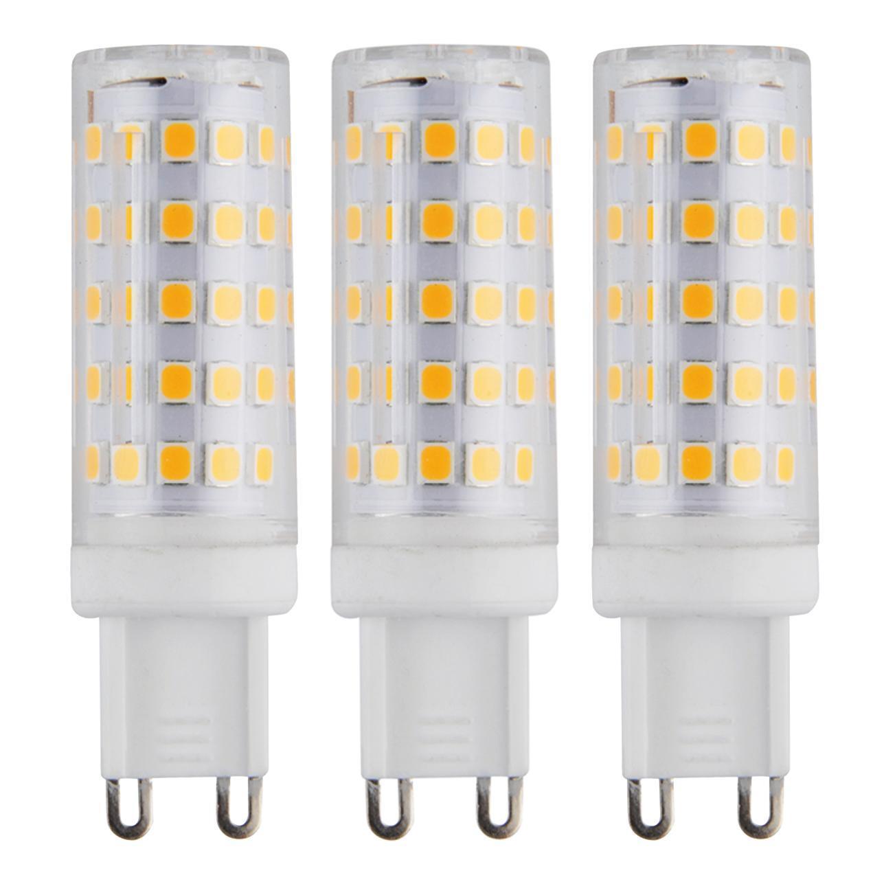 Set di 3 lampadine LED, G9, Capsula, Opaco, Luce calda, 6W=630LM (equiv 50 W), 360° - 1