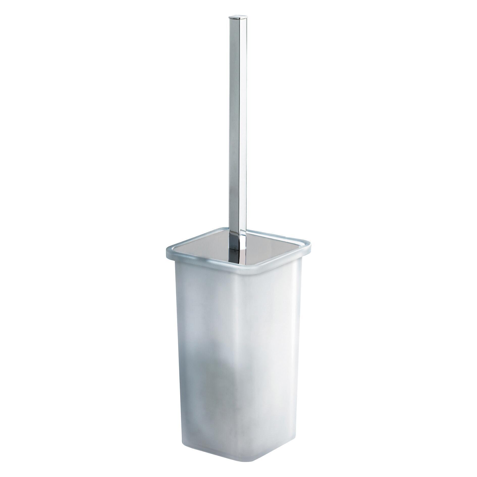 Porta scopino wc a muro Glamur in vetro grigio
