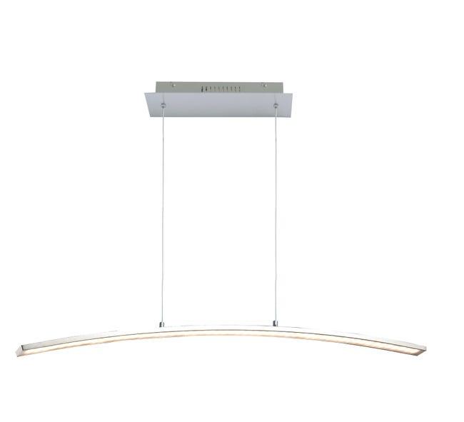 Lampadario Moderno Muda LED integrato cromo, in alluminio, L. 90.0 cm, INSPIRE - 1