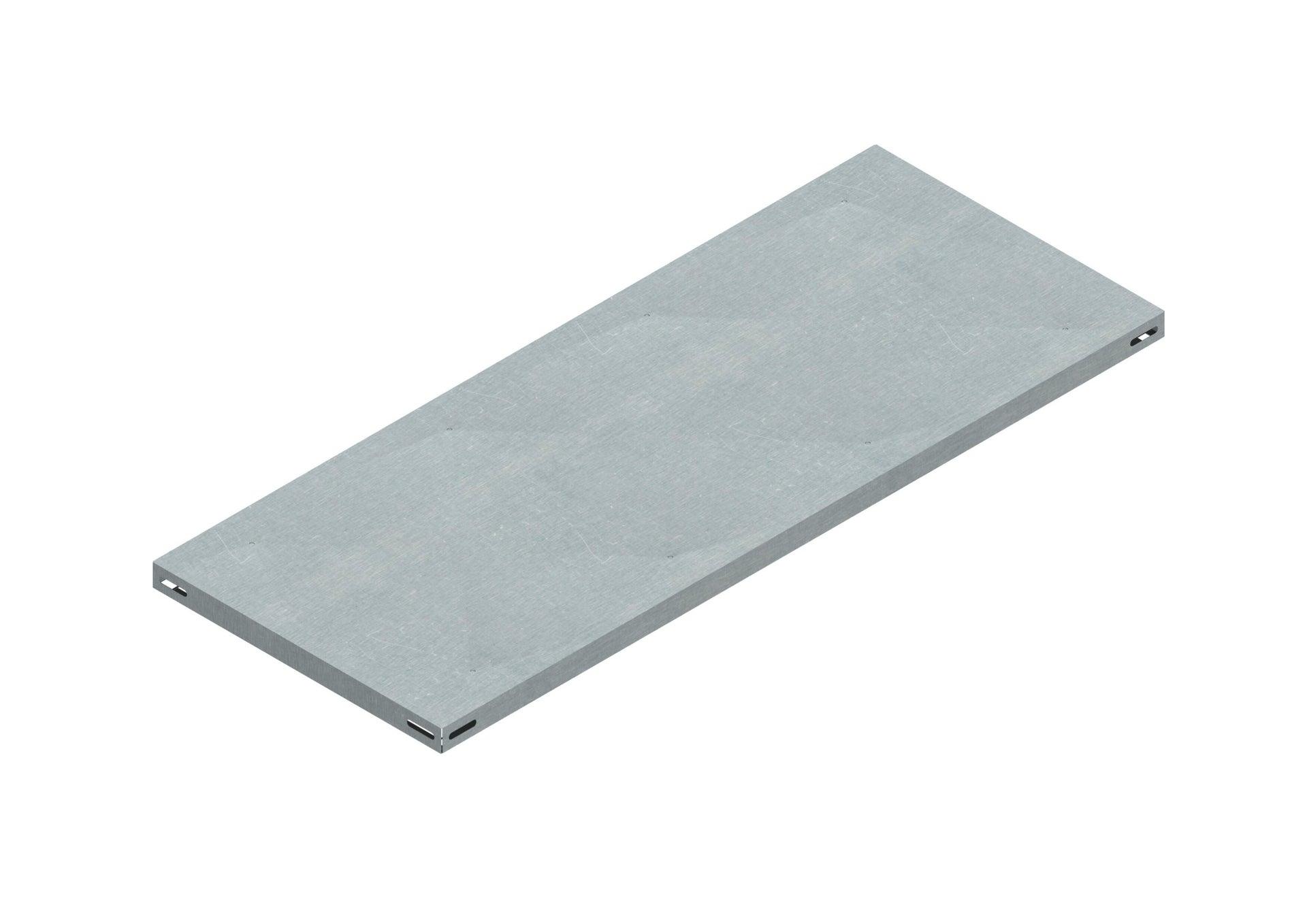 Set di 4 pezzi, Mensola LMIT L 80 x H 12 x P 0.5 cm grigio zincato - 1