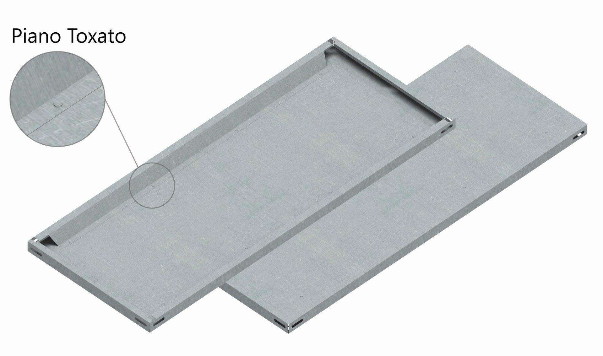 Set di 4 pezzi, Mensola LMIT L 80 x H 12 x P 0.5 cm grigio zincato - 2