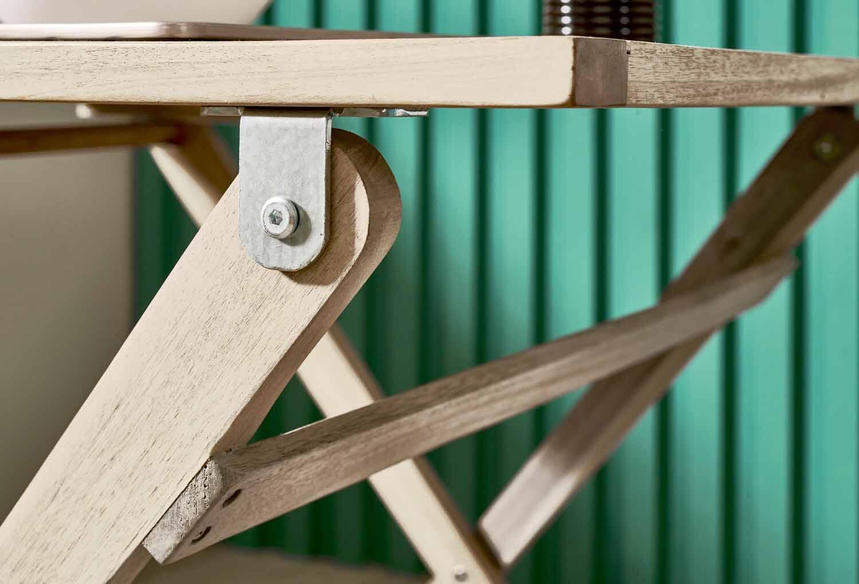 Tavolo da giardino rettangolare Solis NATERIAL con piano in legno L 70 x P 114 cm - 9