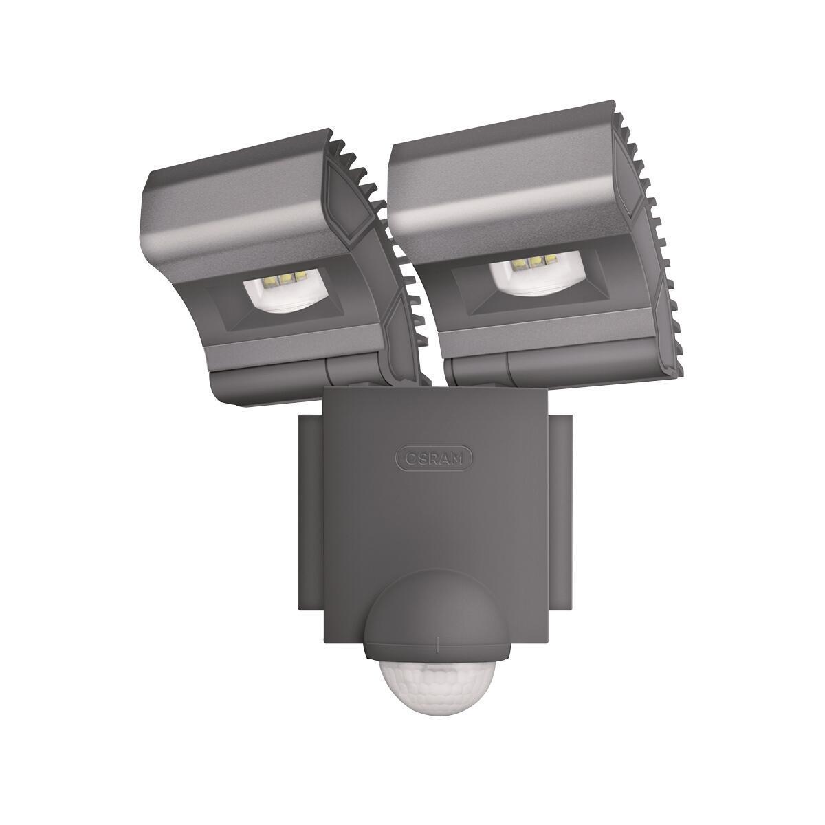 Proiettore LED integrato con sensore di movimento Noxlite in alluminio, grigio, 8W 1720LM IP44 OSRAM - 1