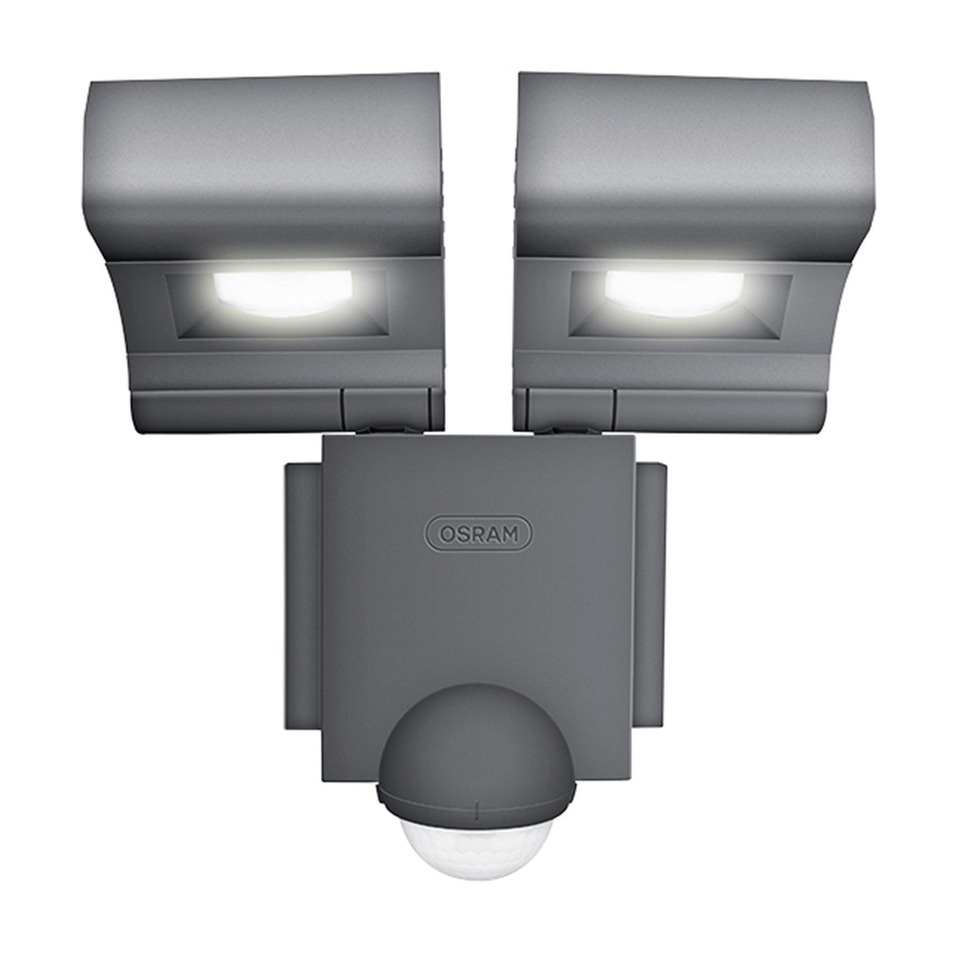 Proiettore LED integrato con sensore di movimento Noxlite in alluminio, grigio, 8W 1720LM IP44 OSRAM - 6
