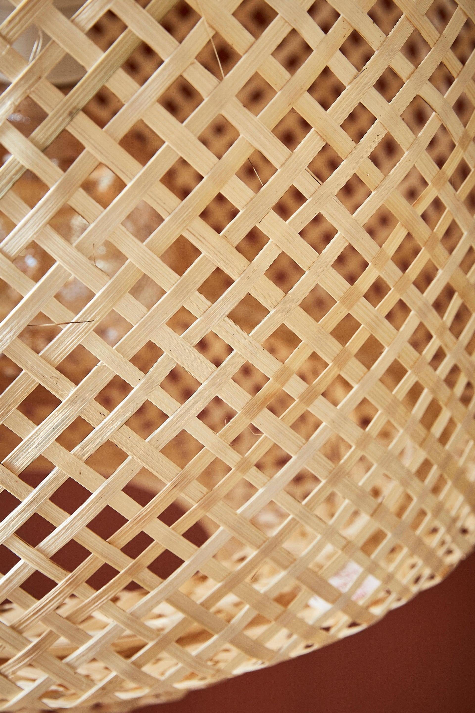 Lampadario Natura Doramu marrone in bambù, D. 40 cm, LUSSIOL - 15