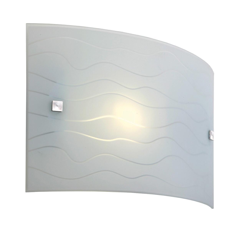 Applique classico Nina bianco, in vetro, 32x20 cm, - 2