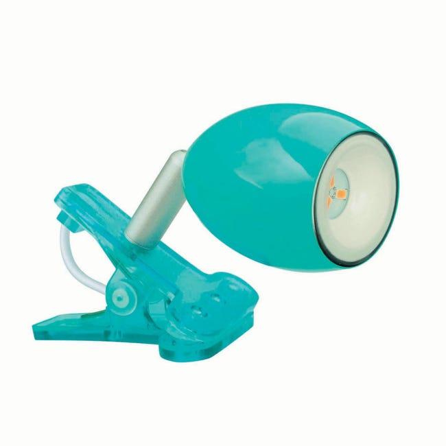Faretto a pinza Araled azzurro, in acciaio, LED integrato 1.5W IP20 INSPIRE - 1