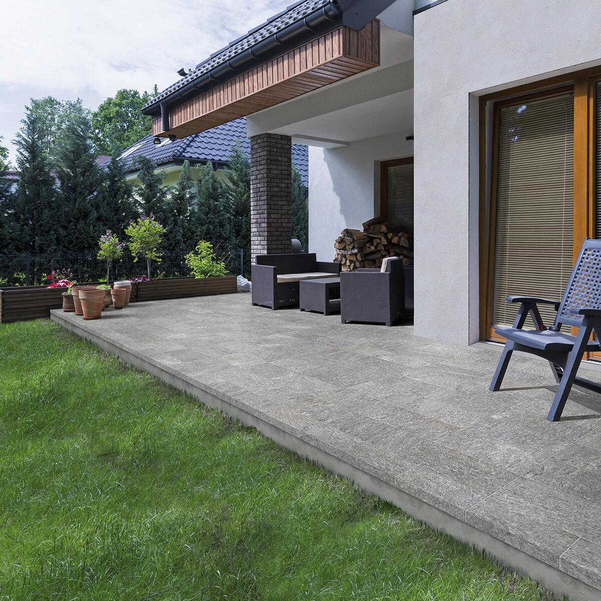 Piastrella Rocce Serizzo 20 x 40 cm sp. 8.5 mm PEI 4/5 grigio - 1