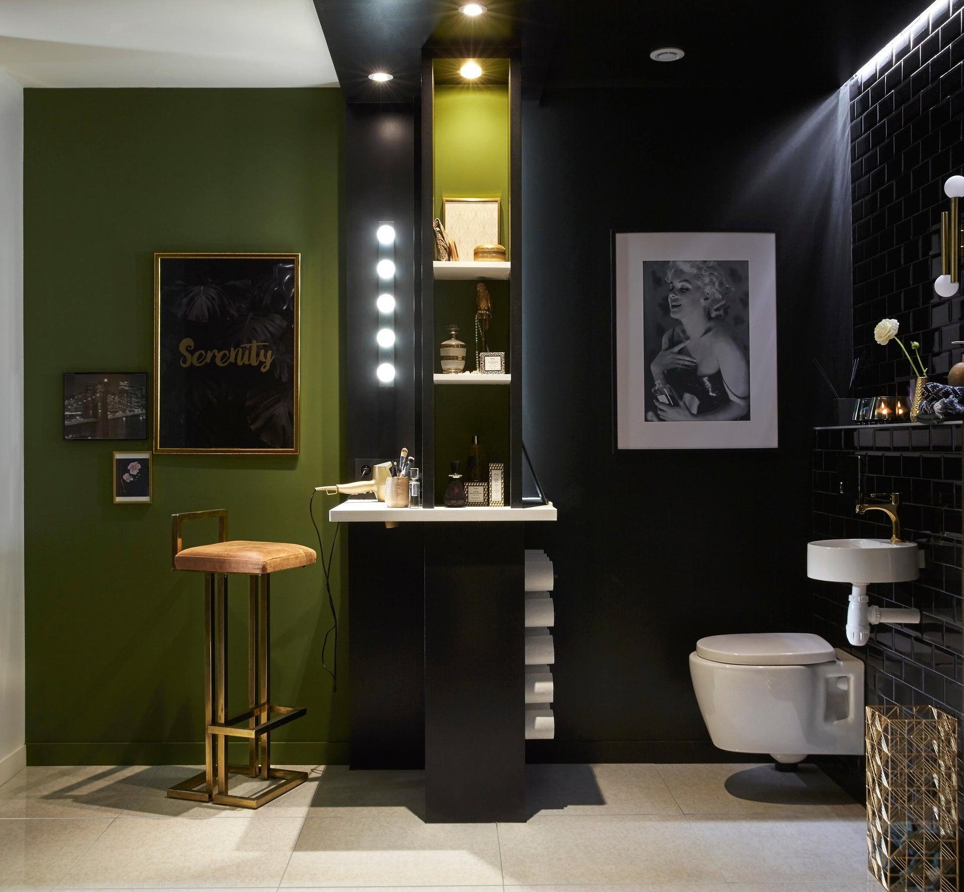Applique moderno Smila LED integrato nero, in metallo, 60x60 cm, 5 luci INSPIRE - 7