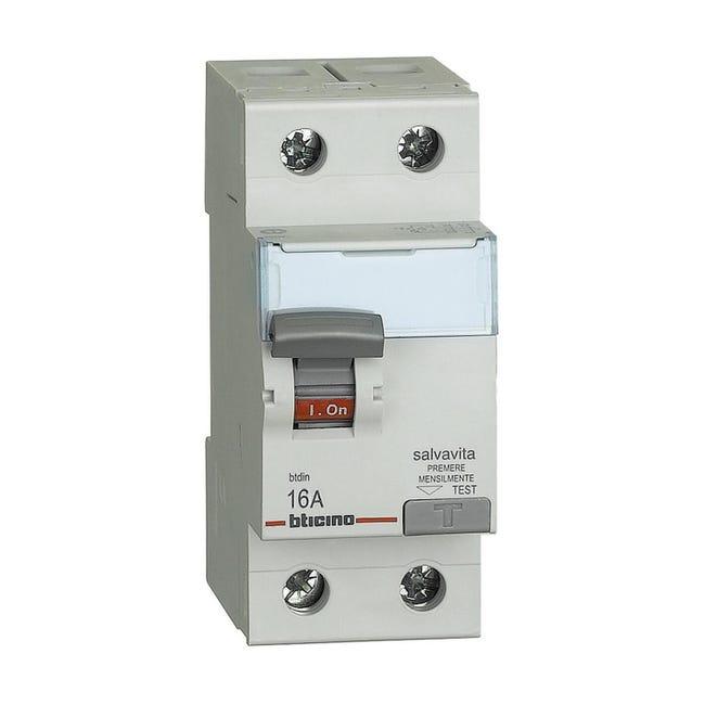 Interruttore differenziale puro BTICINO G722AC16 2 poli 16A AC 2 moduli 230V - 1