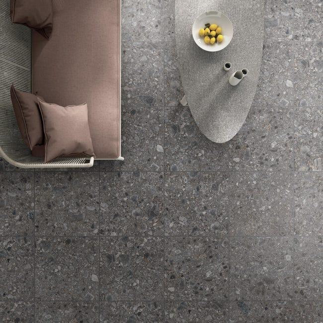 Piastrella Futura 60 x 60 cm sp. 9 mm PEI 4/5 antracite - 1
