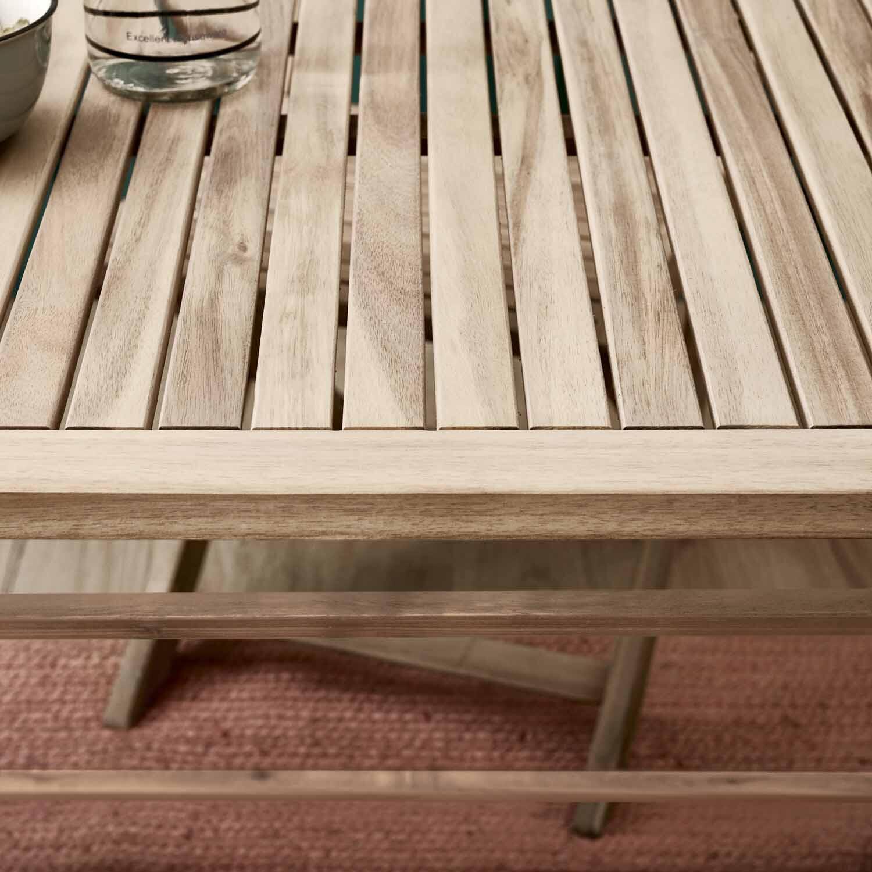 Tavolo da giardino rettangolare Solis NATERIAL con piano in legno L 70 x P 114 cm - 3