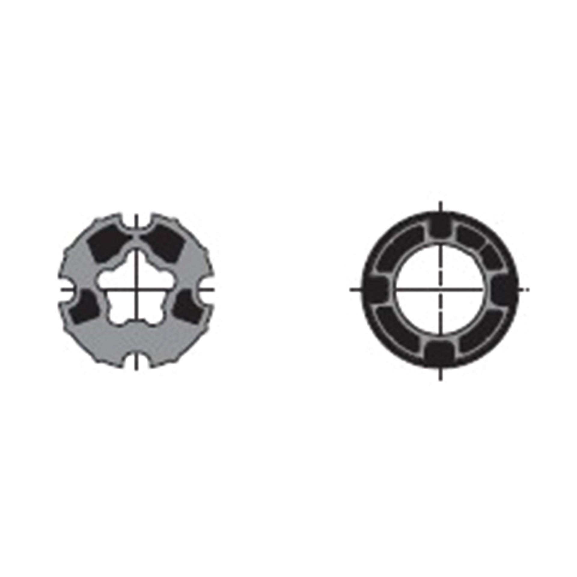 Adattatore in alluminio L 7 x H 7 x P 3 cm
