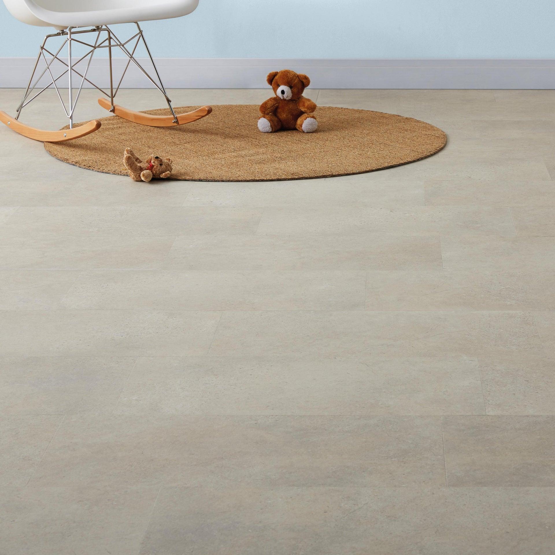 Pavimento PVC adesivo Limestone Sp 2 mm grigio / argento - 1