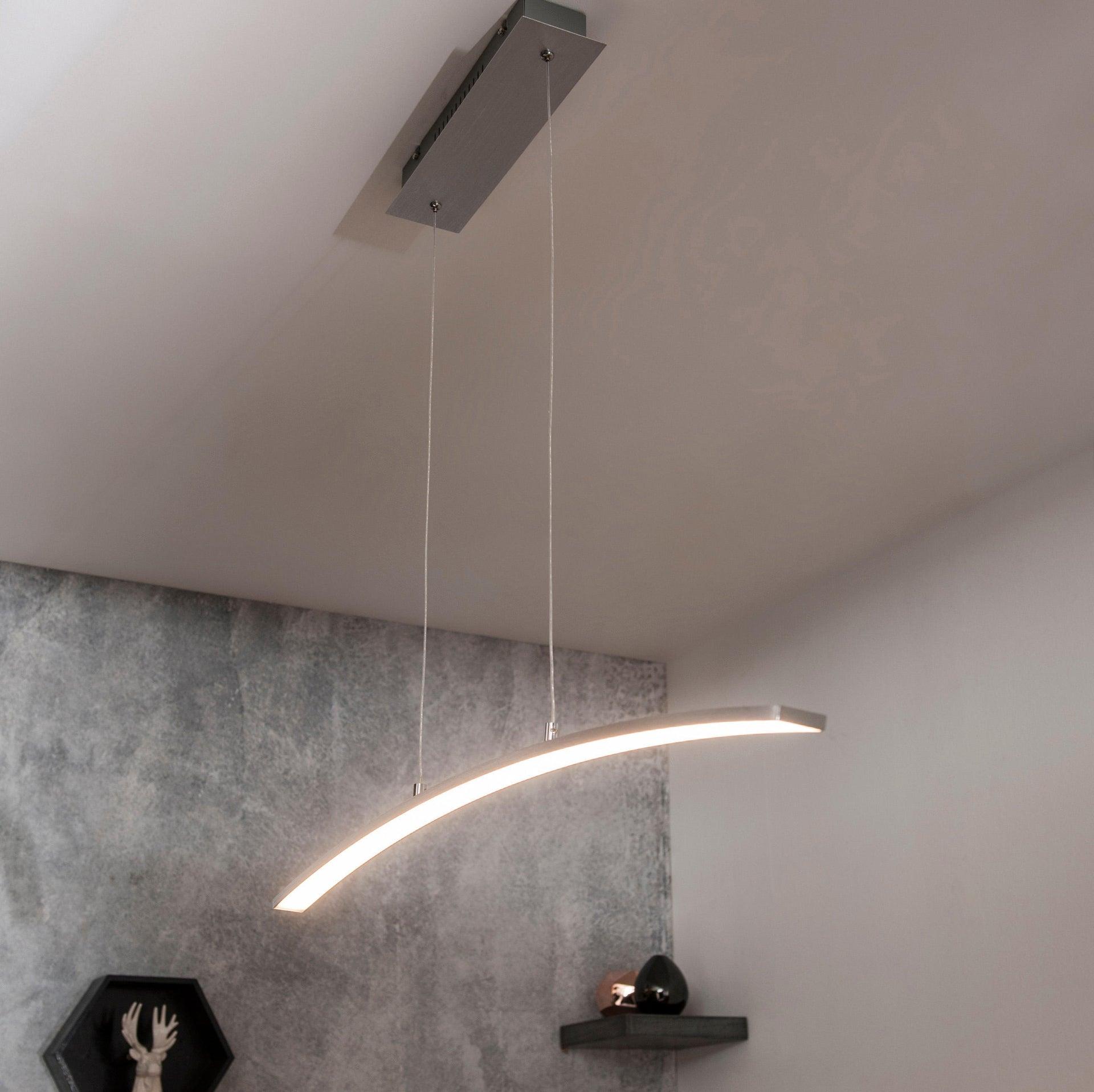 Lampadario Moderno Muda LED integrato cromo, in alluminio, L. 90.0 cm, INSPIRE - 2