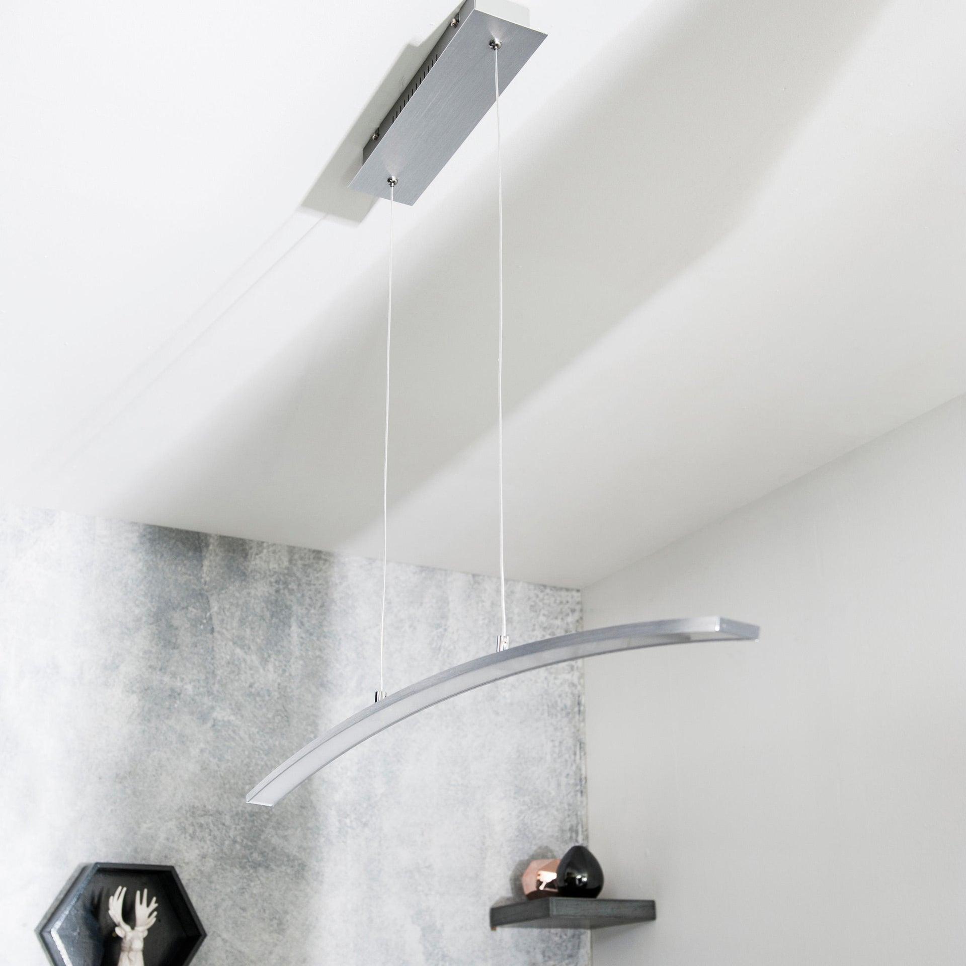 Lampadario Moderno Muda LED integrato cromo, in alluminio, L. 90.0 cm, INSPIRE - 3