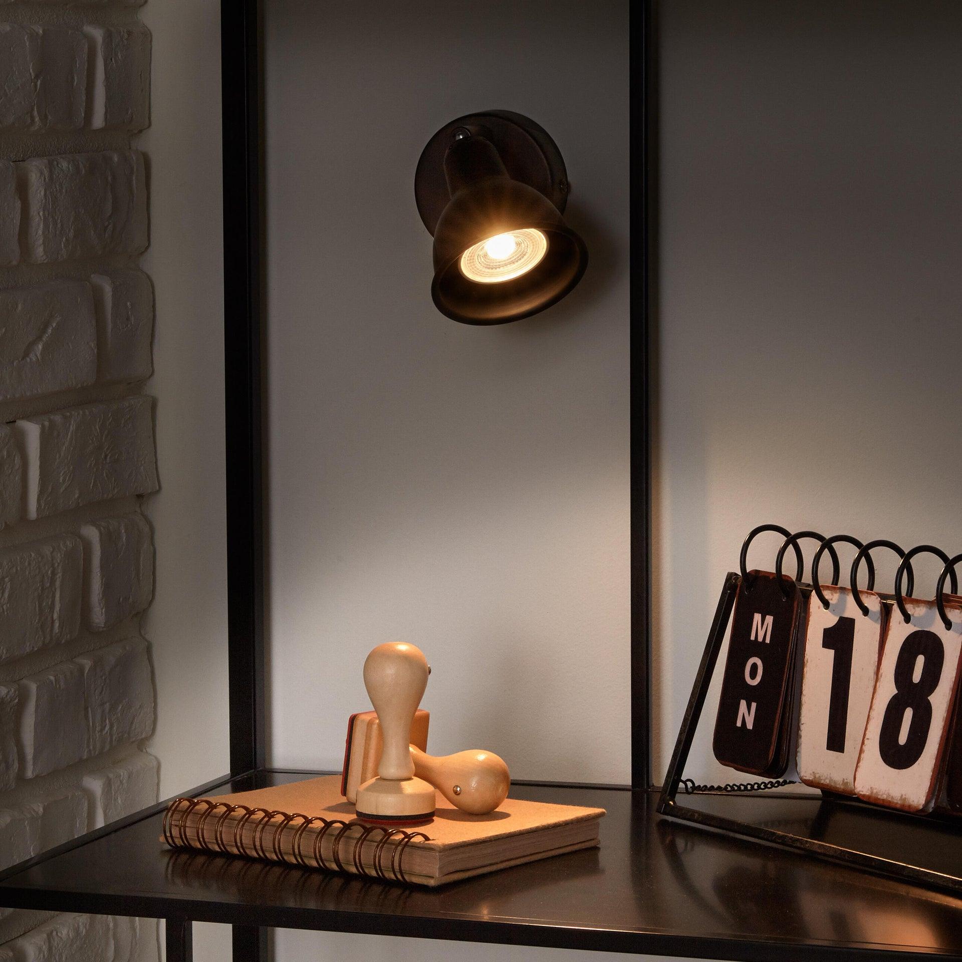 Faretto a muro Rusto ruggine, in metallo, GU10 35W IP20 INSPIRE - 2