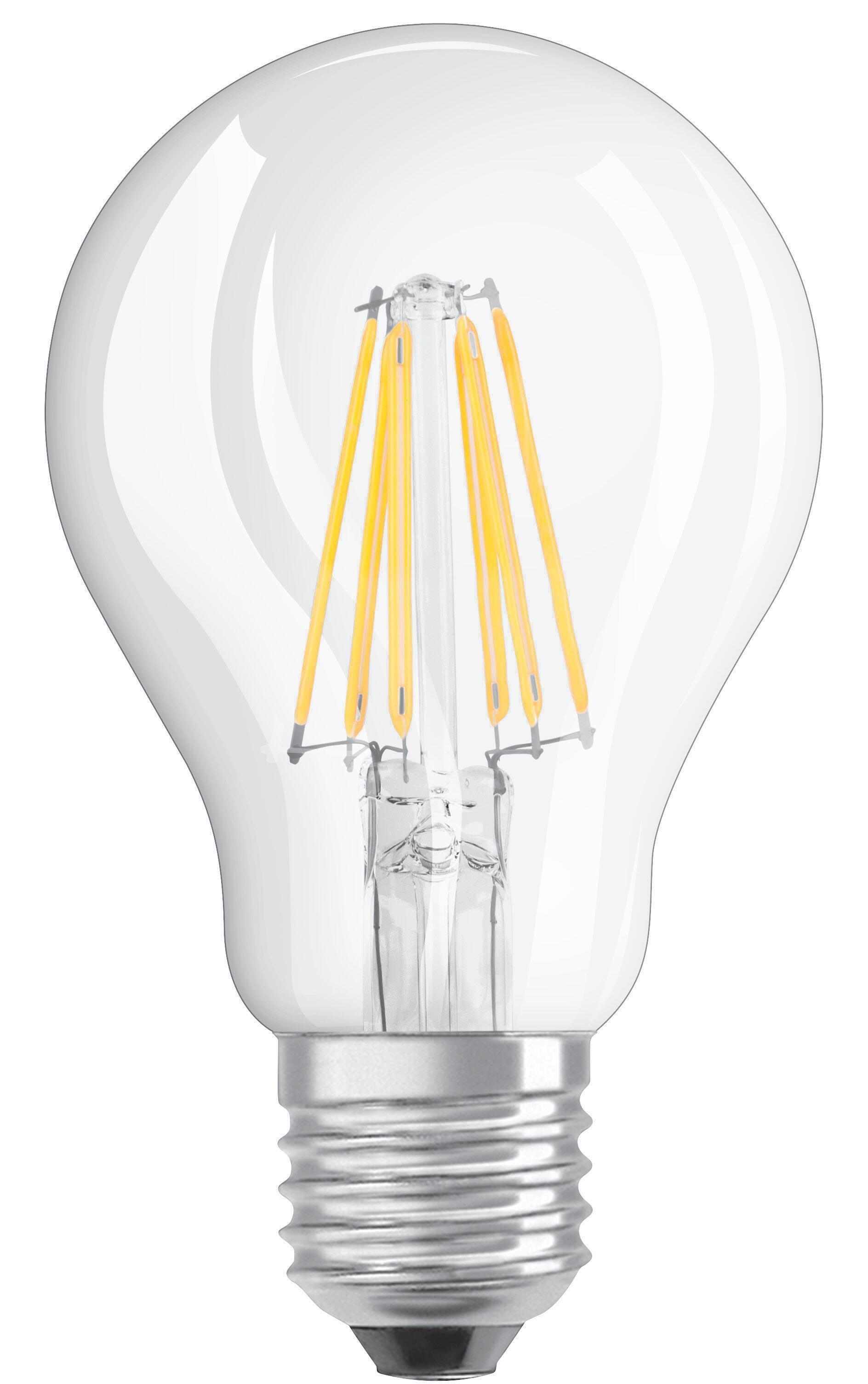 Lampadina LED filamento, E27, Goccia, Trasparente, Luce naturale, 4W=470LM (equiv 40 W), 320° , OSRAM - 6