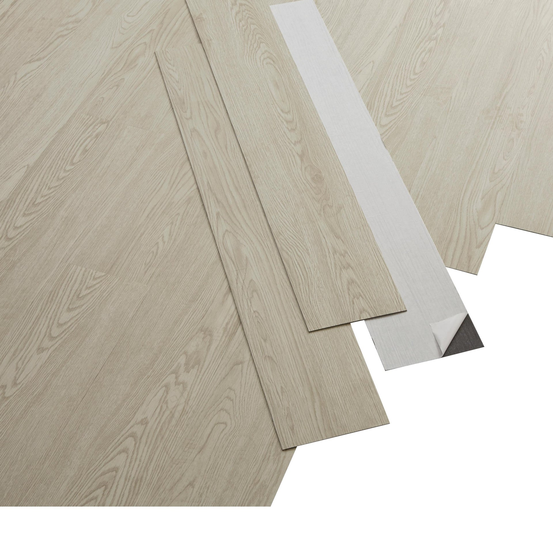 Pavimento PVC adesivo Whiwood Sp 1.8 mm bianco - 3