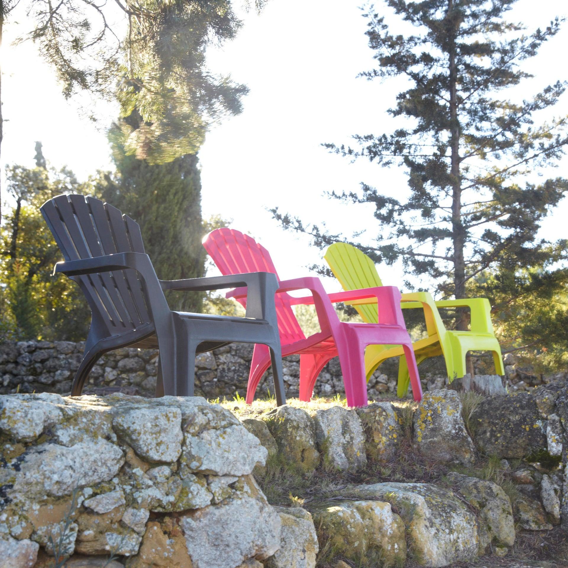 Sedia con braccioli senza cuscino in resina iniettata Dolomiti TELEHIT GARDEN colore antracite - 2
