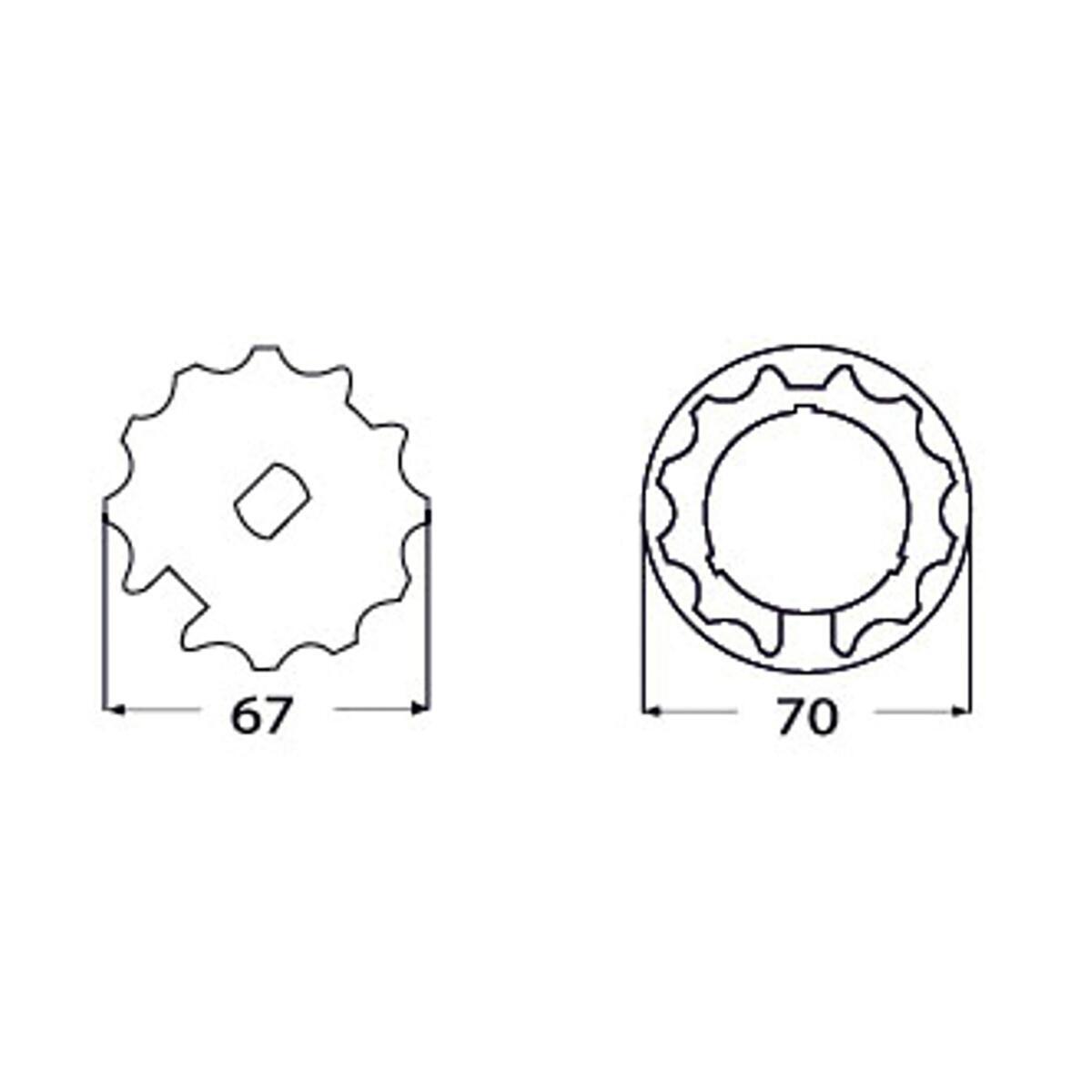 Adattatore MTPR01W in pvc L 6.5 x H 5.2 x P 7 cm - 3