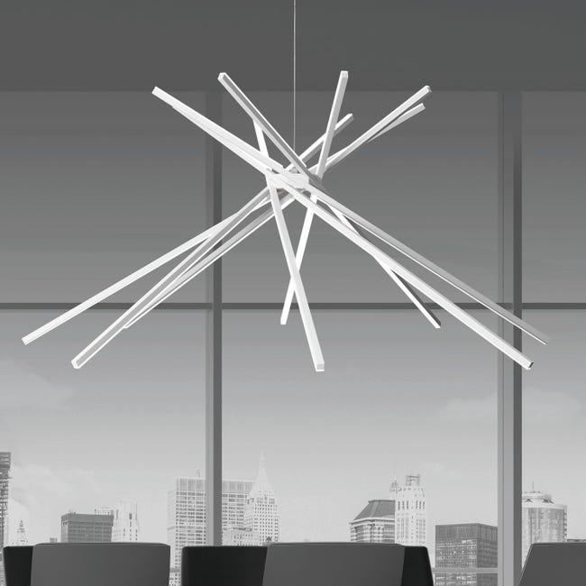Lampadario Design Shang LED integrato bianco, in alluminio, D. 113 cm - 1