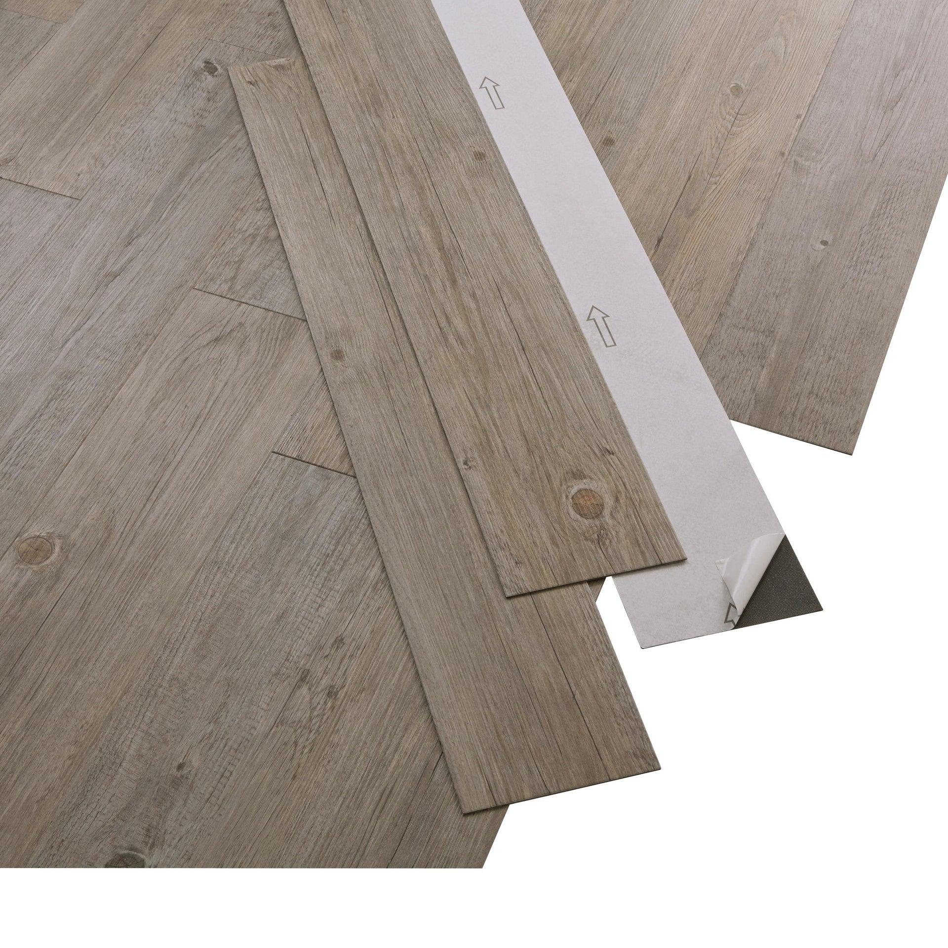 Pavimento PVC adesivo Pecan Sp 2 mm grigio / argento - 2