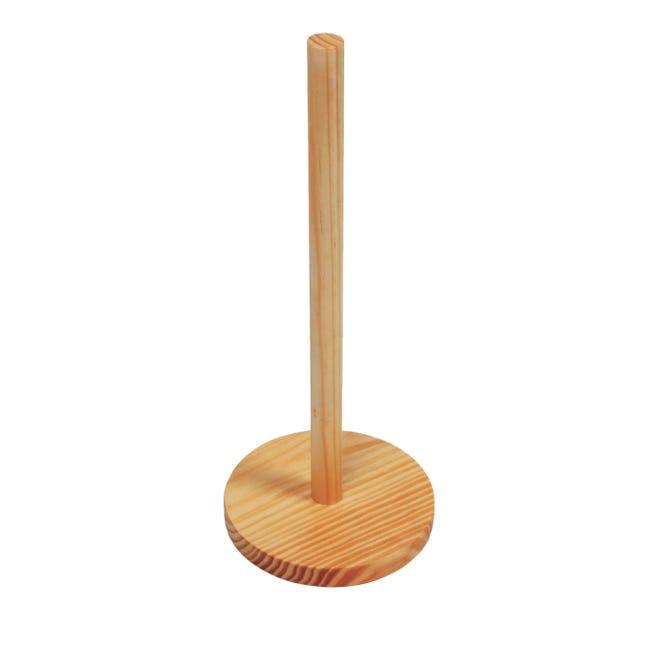 Porta rotolo carta assorbente in legno L 12.5 x H 32 cm - 1