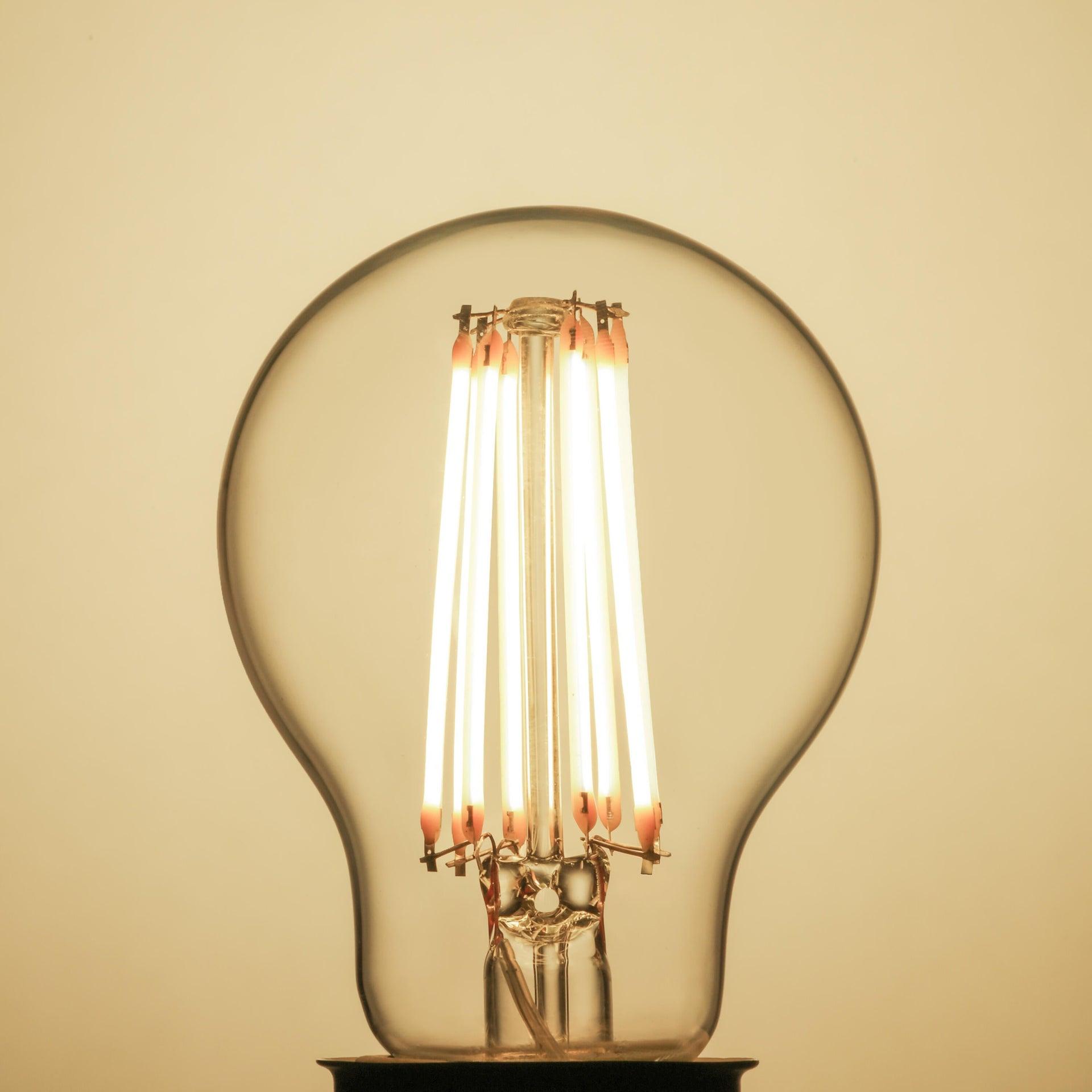 Lampadina LED filamento, E27, Goccia, Trasparente, Luce naturale, 11W=1521LM (equiv 100 W), 360° , LEXMAN - 12