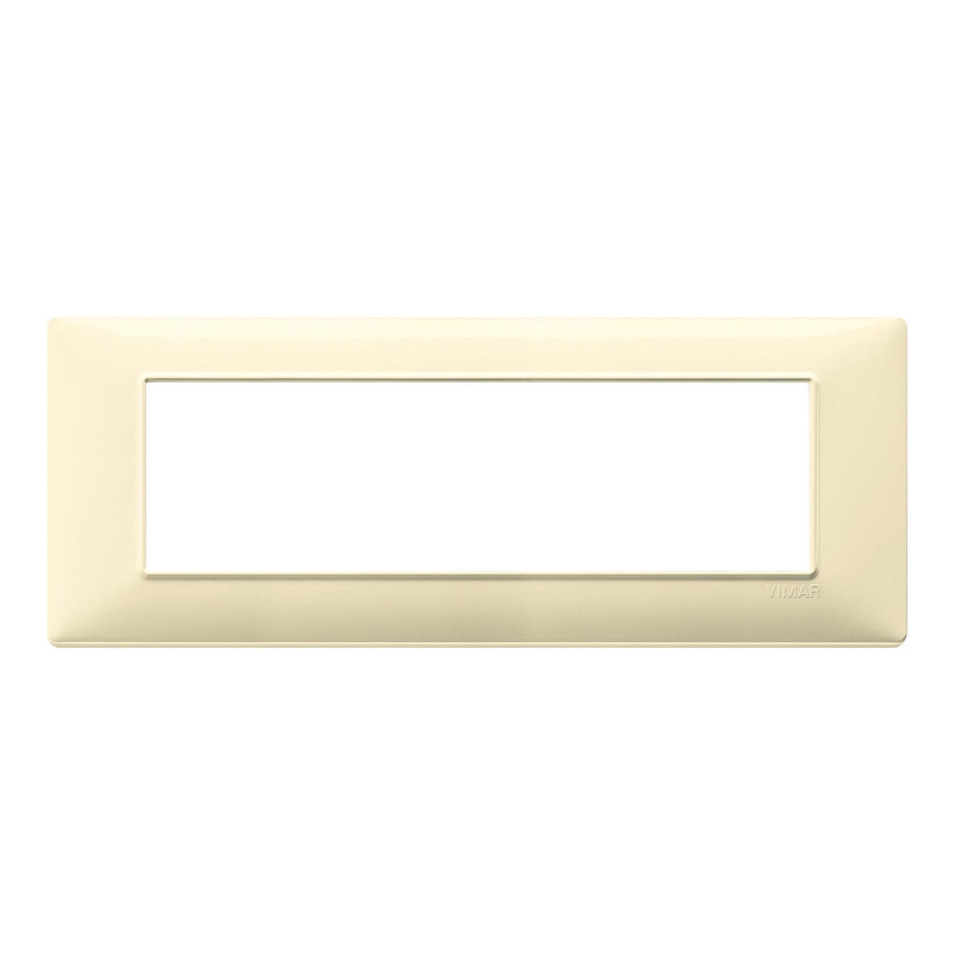 Placca Plana VIMAR 7 moduli crema
