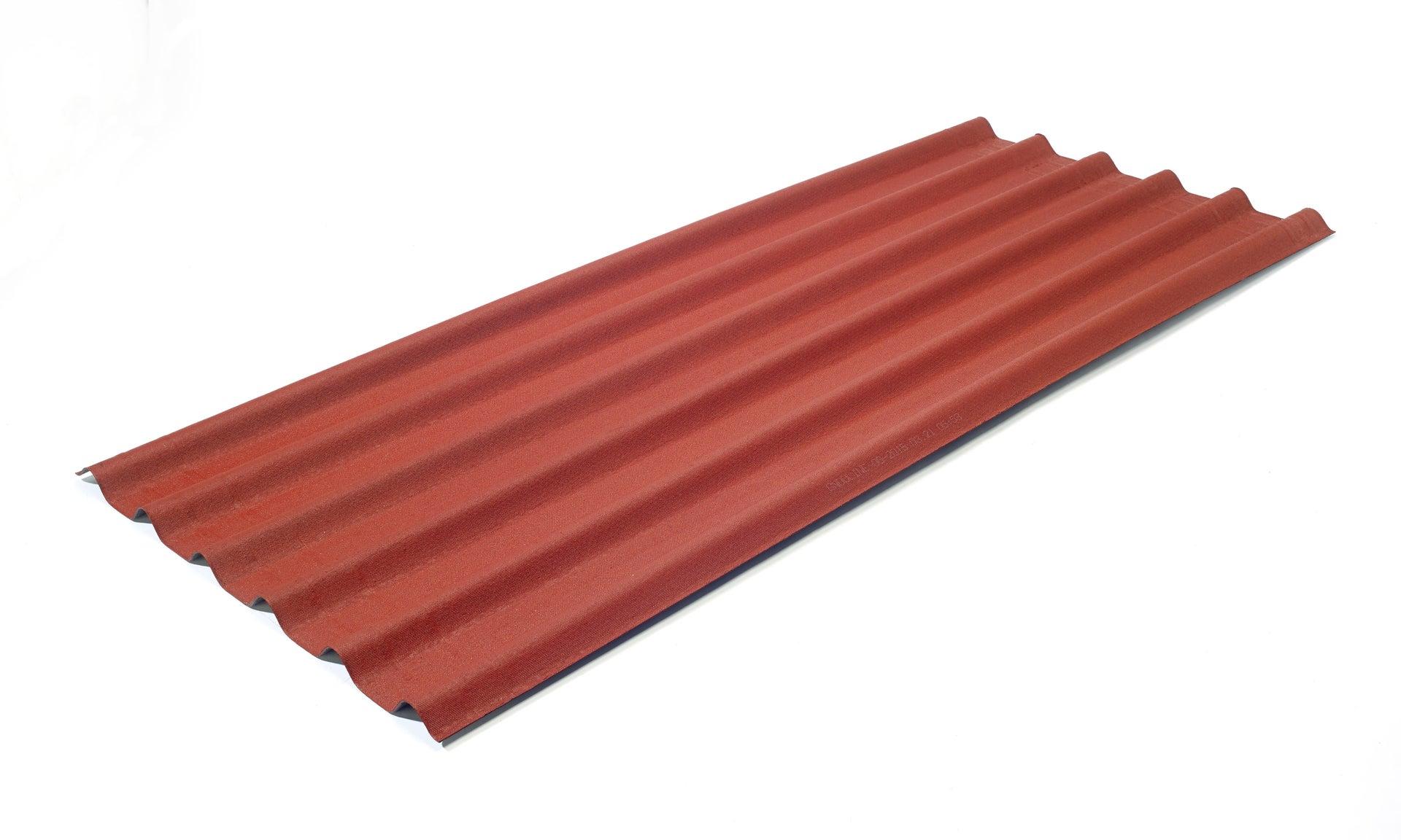 Piastra Asfalto Esterno ONDULINE Easyfix in bitume 0.81 x 2 m rosso - 6