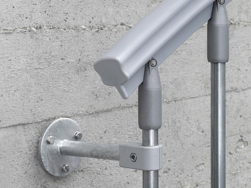 Scala a chiocciola tonda Steel Zink FONTANOT L 120 cm, gradino grigio zincato, struttura grigio zincato - 9