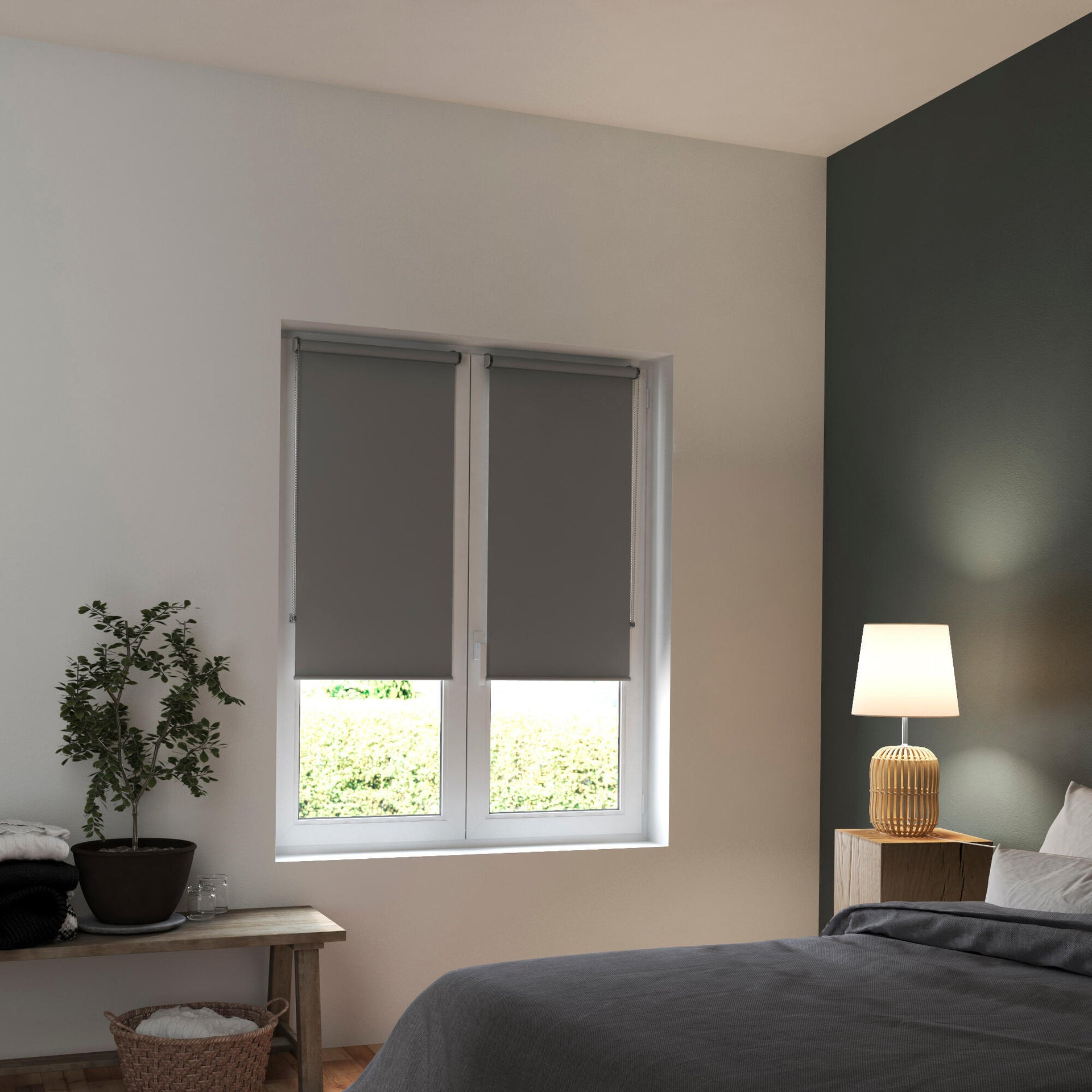 Tenda a rullo oscurante INSPIRE Tokyo grigio 55 x 160 cm - 6