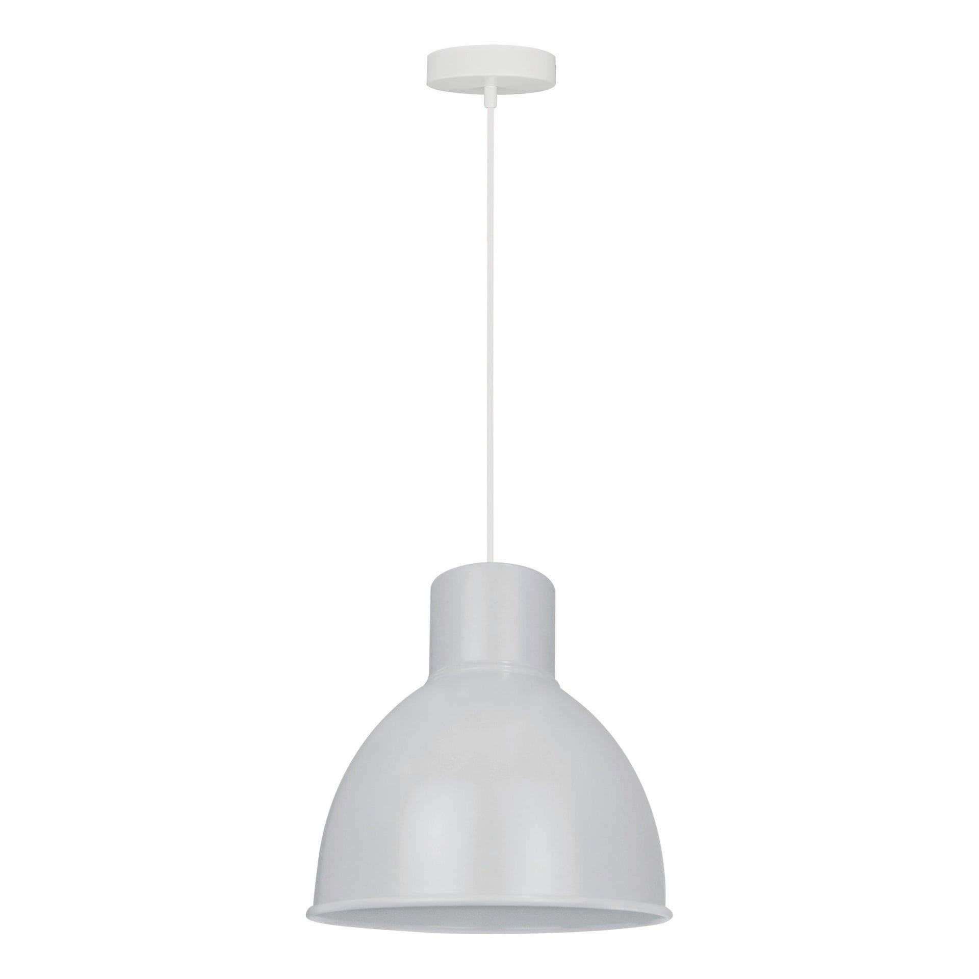 Lampadario Scandinavo Melga bianco in metallo, D. 20 cm, INSPIRE - 7