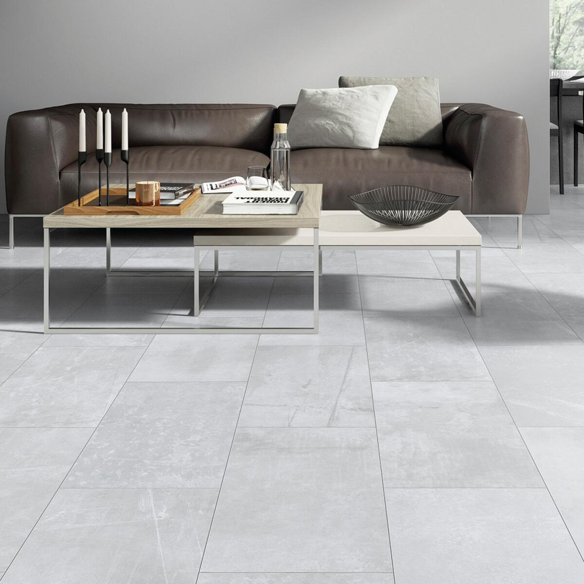 Pavimento SPC flottante clic+ Sp 4 mm grigio / argento - 1
