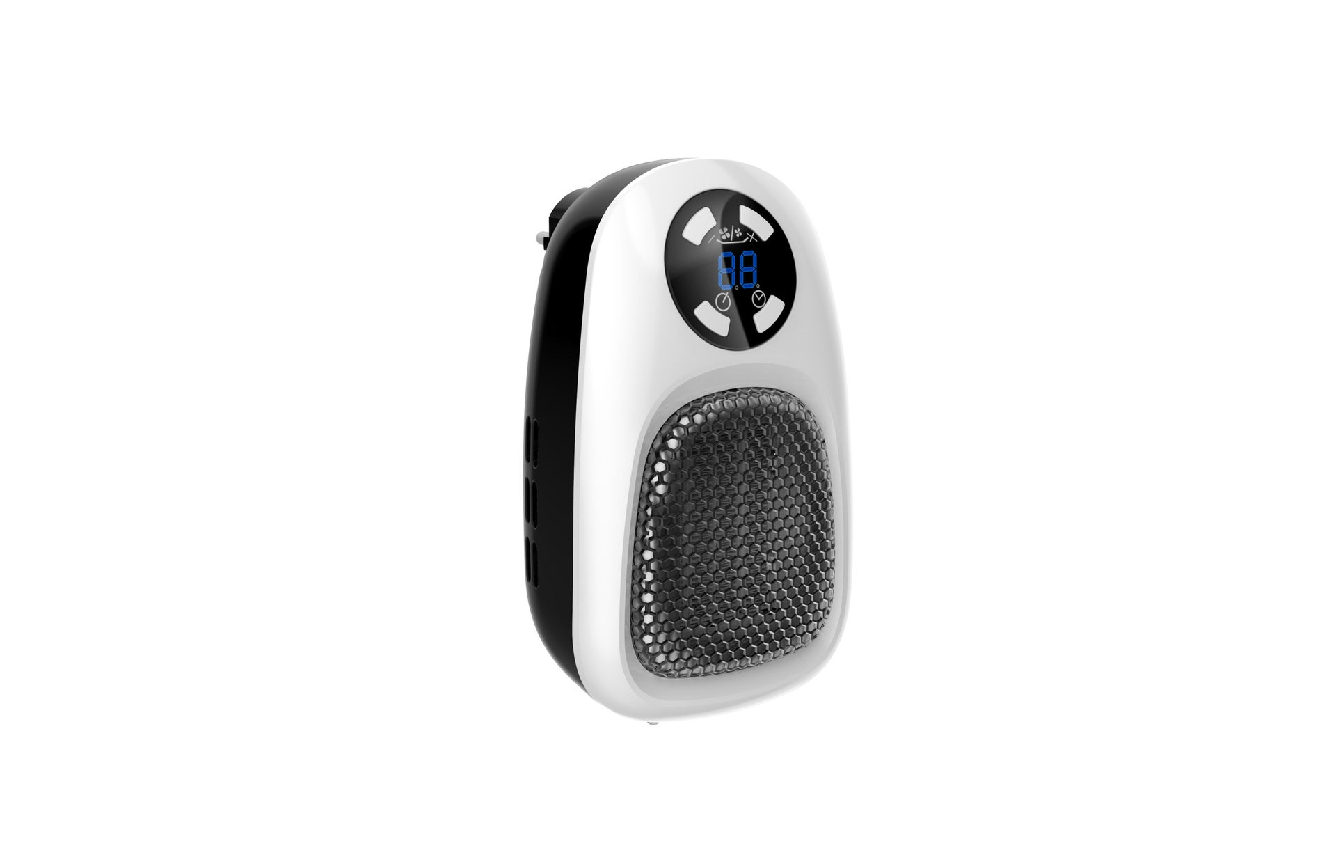 Termoventilatore elettrico EQUATION Handy nero 500 W - 6