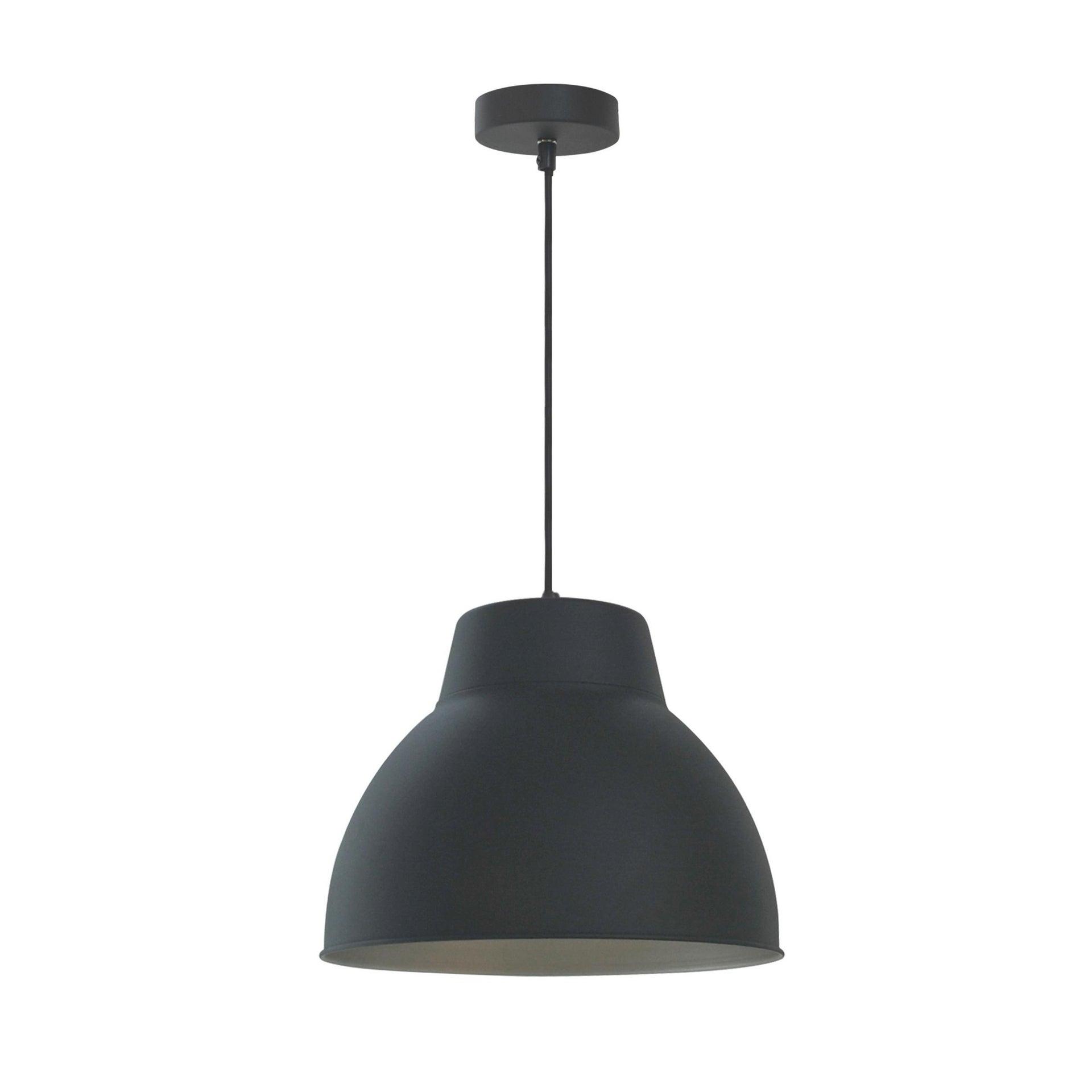 Lampadario Industriale Mezzo nero in metallo, D. 45 cm, INSPIRE - 3