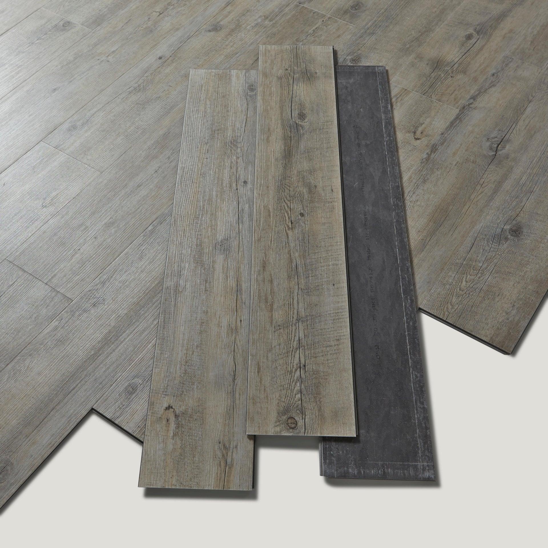Pavimento PVC flottante clic+ Pecan Sp 4.5 mm grigio / argento - 4
