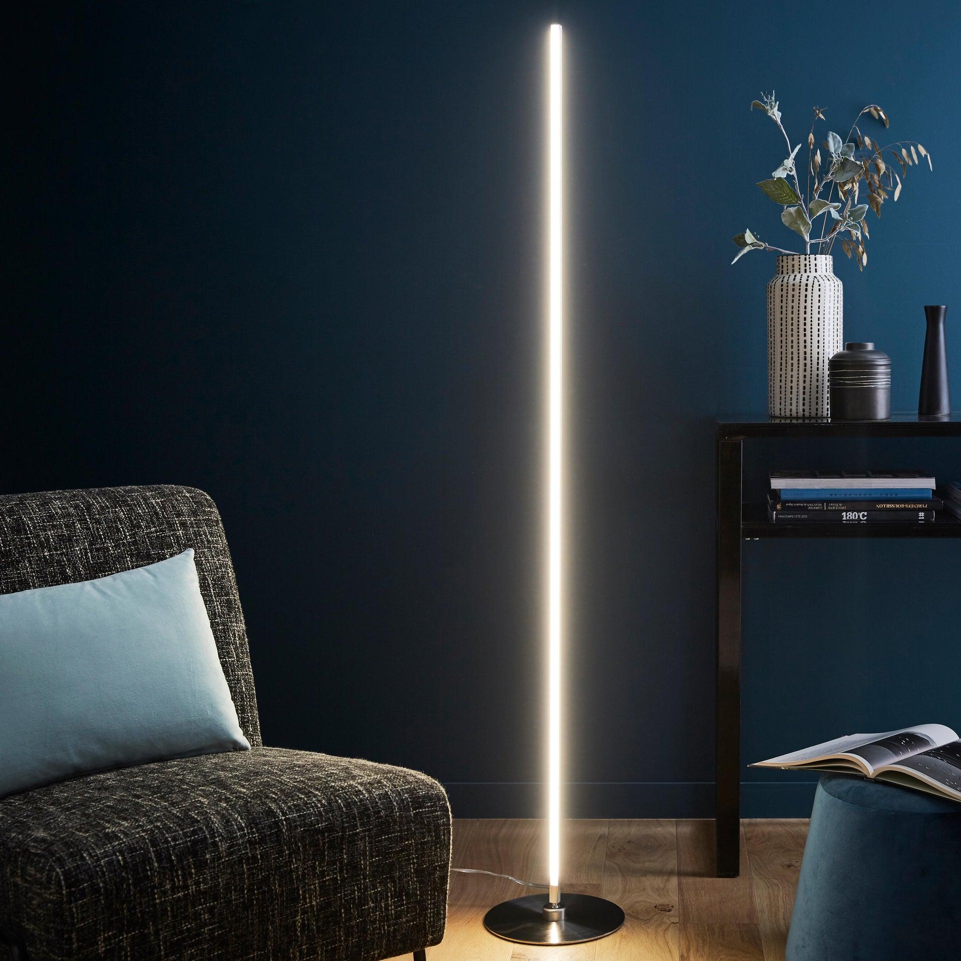 Lampada da terra Truxton cromato, in metallo, H146cm LED integrato INSPIRE - 2