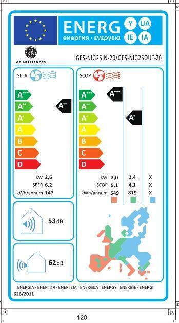 Climatizzatore fisso monosplit GE APPLIANCES NIG25IN-20 - 4