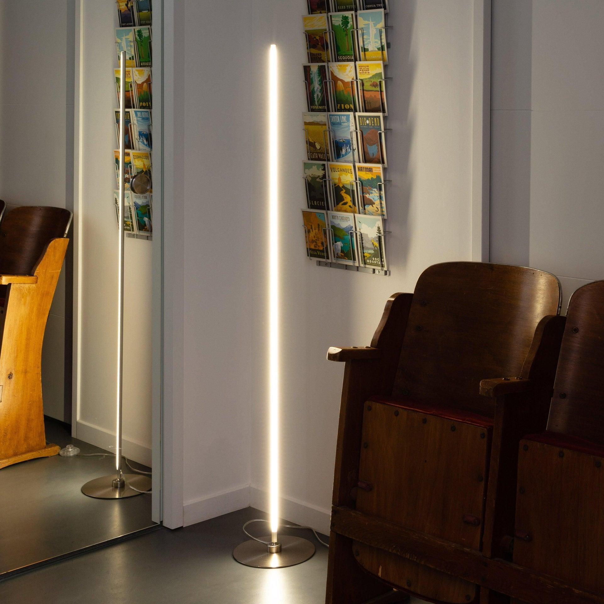 Lampada da terra Truxton cromato, in metallo, H146cm LED integrato INSPIRE - 1