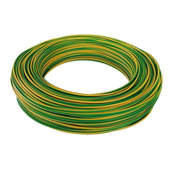 Cavo elettrico giallo/verde FS17 1 filo x 2,5 mm² 100 m BALDASSARI CAVI Matassa - 1
