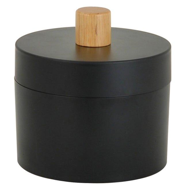 Porta cotone Scandi in plastica nero SENSEA - 1