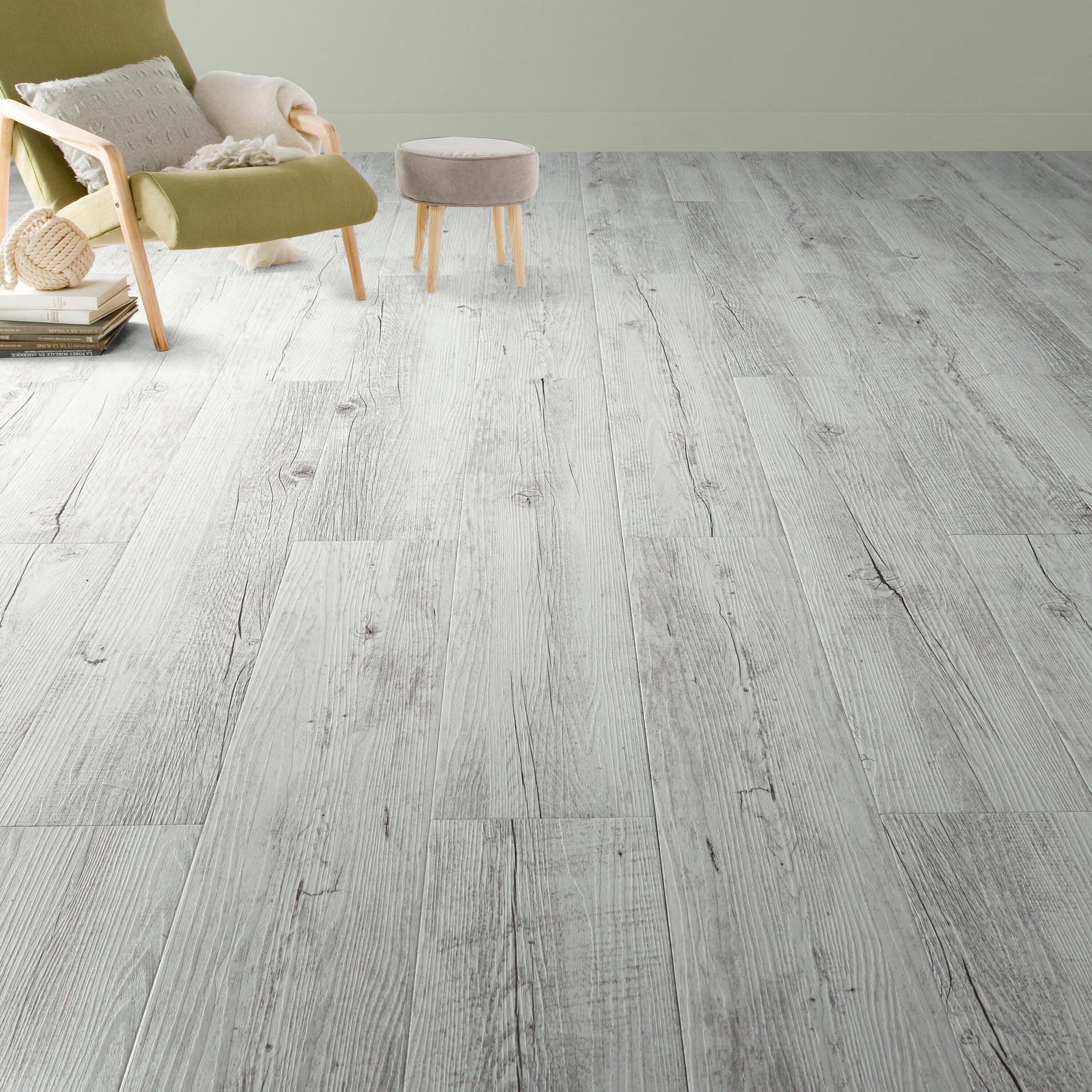Pavimento PVC adesivo White Pecan Sp 2 mm bianco - 5