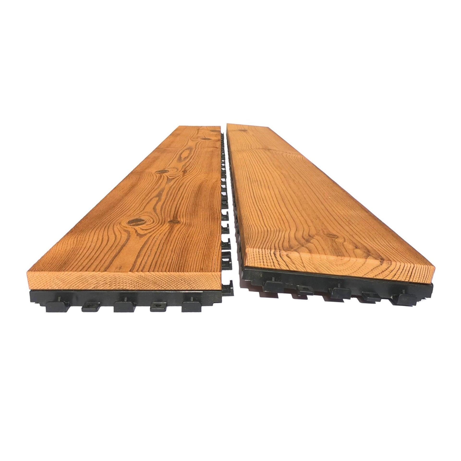 Listone da incastro in legno L 120 x H 15 cm, Sp 20.5 mm marrone - 13